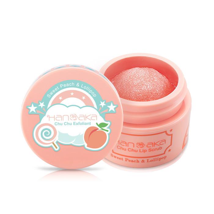 image of HANAKA 花戀肌 唇部去角質啾啾霜 15mL 蜜桃棒棒糖      Hanaka Hanaka Chu Chu Lip Scrub 15ml [#Sweet Peach & Lollipop]