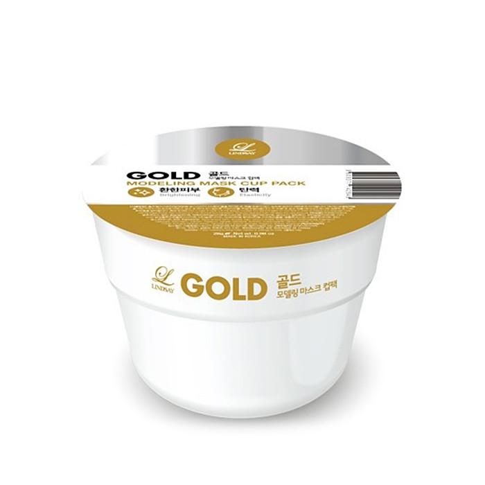 韓國 LINDSAY SPA立體面膜 28g #黃金   Korea Lindsay MODELING RUBBER MASK - GOLD 28g