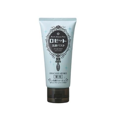 image of 日本 ROSETTE 植物漢方控油抗痘洗面乳(海泥+湖底泥) 120g  Japan Rosette Acne Clear Face Cleanser 120g