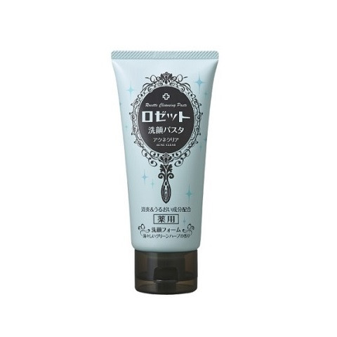 image of 日本 ROSETTE 植物漢方控油抗痘洗面乳(海泥+湖底泥) 120g  Japan Rosette Acne Clear Face Cleanser 120g