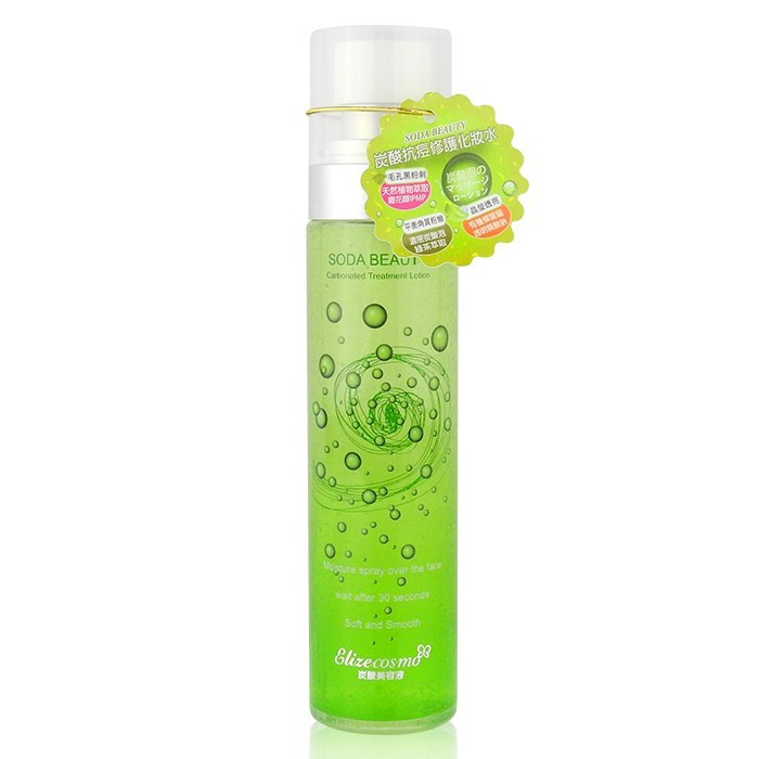 image of SODA BEAUTY炭酸抗痘修護化妝水 100mL   SODA BEAUTY Carbonated Treatment Lotion 100mL