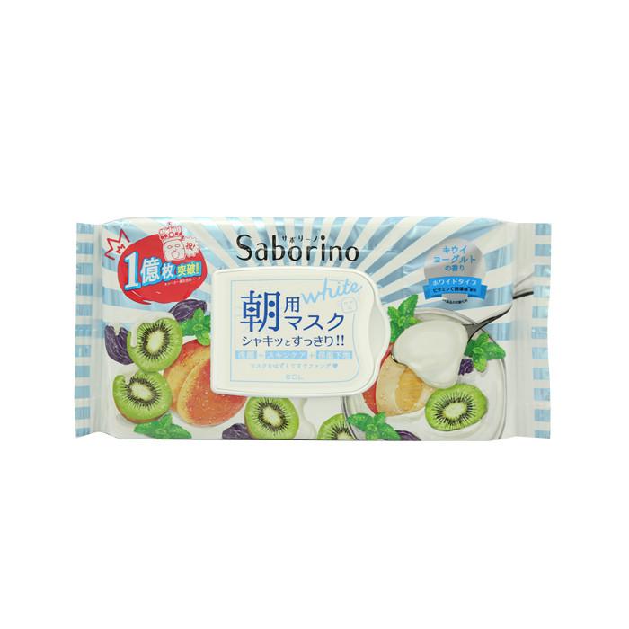 image of 日本 BCL Saborino 早安面膜(美白型) 28枚入  Japan BCL - Saborino Morning Mask Kiwi Yogurt 28pcs
