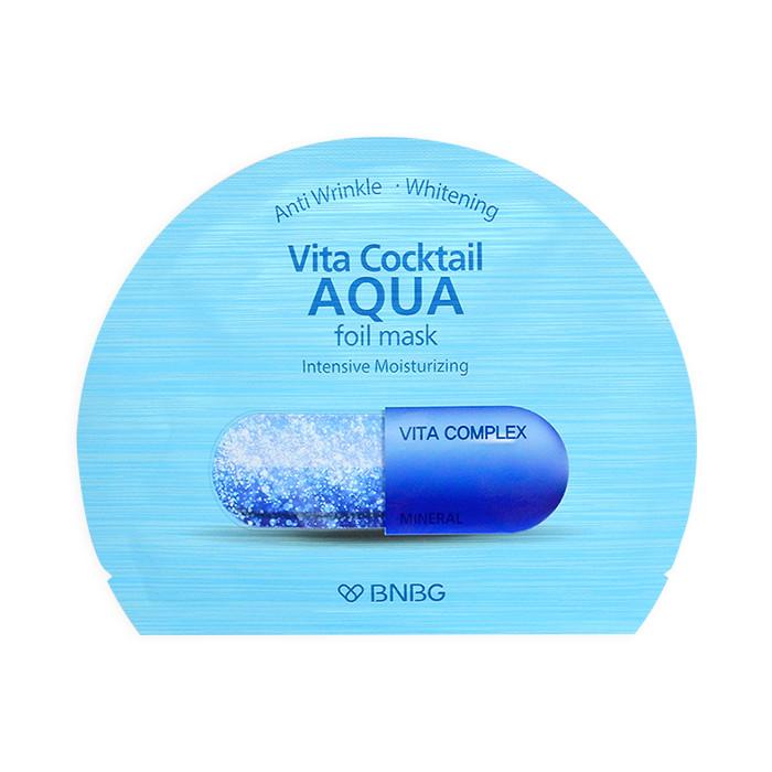 image of 韓國 BNBG 維他命凝膠面膜 30mL #藍色-高效補水   Korea BNBG Vita Cocktail Aqua Foil Mask 30mL