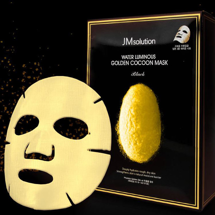 image of 韓國 JMsolution 黃金蠶絲面膜 10入/盒   Korea JMsolution Water Luminous Golden Cocoon Mask 10 pcs/pack
