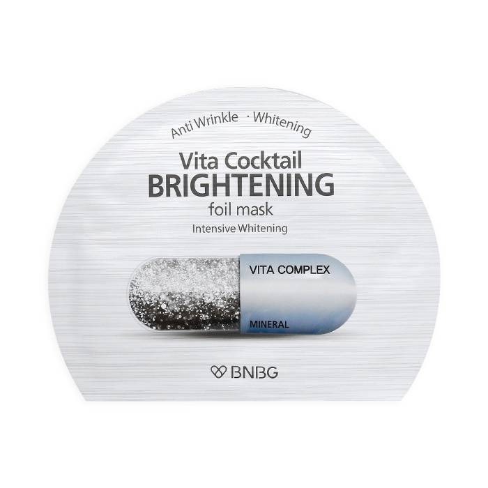 image of 韓國 BNBG 維他命凝膠面膜 30mL #銀色-亮白淡斑   Korea Bnbg Vita Cocktail Brightening Foil Mask 30ml