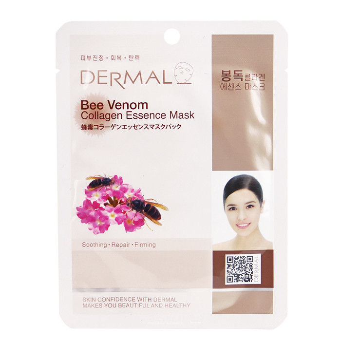 image of 韓國 DERMAL面膜 23g NO.32.膠原蛋白緊實面膜   Korea DERMAL Collagen Essence Mask- Bee Venom 23g