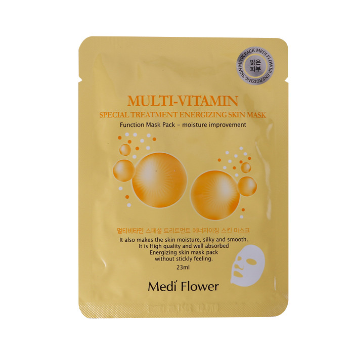 image of 韓國 Medi Flower 護理面膜(單片) 維生素23ml  Mediflower Special Treatment Enerzing Skin Mask (Multi-Vitamin) 23mL