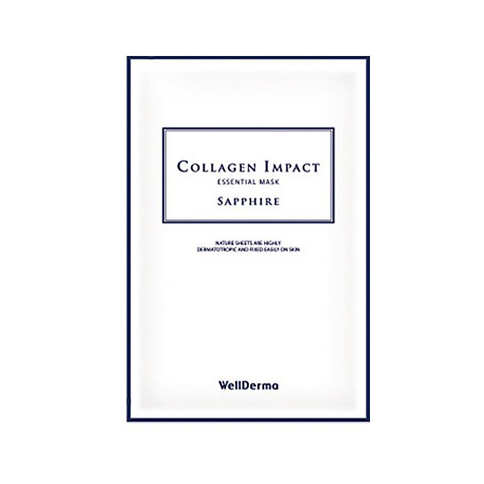 image of 韓國 WellDerma 夢蝸 膠原蛋白人皮面膜(單片)   Korea WellDerma Collagen Impact Essential Mask Sapphire