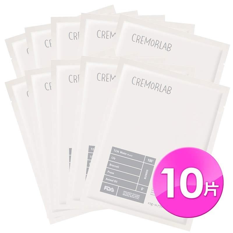 image of 韓國 CREMORLAB 珂麗魅瀾 植物萃取亮白面膜 25g/10 sheets   Korea CREMORLAB WHITE BLOOM TRIPLE BRIGHT FLORAL MASK 25g/10sheets