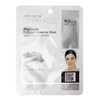 image of 韓國 DERMAL面膜 23g NO.01.白金深度保濕緊緻面膜(031 Platinum)   Korea Dermal Platinum Collagen Essence Mask 23g