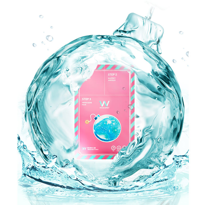 image of 韓國Wonjin Effect 三步驟爆水炸彈面膜 單片23g  Korea Wonjin Effect 3-Step Water Bomb Mask 23g