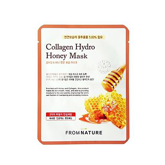 image of 韓國 FROM NATURE 膠原蜂蜜面膜(單片)  Korea  FROM NATURE Collagen Hydro Honey Mask
