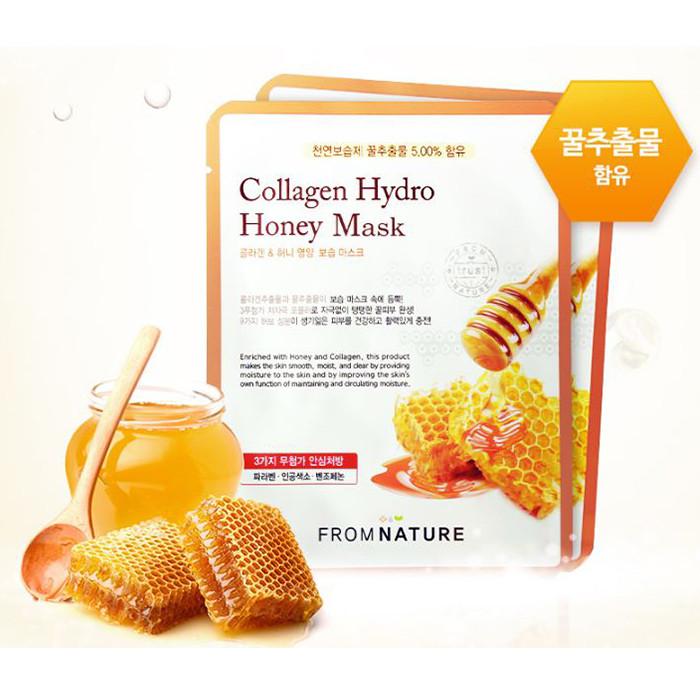 韓國 FROM NATURE 膠原蜂蜜面膜(單片)  Korea  FROM NATURE Collagen Hydro Honey Mask