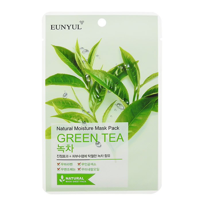 image of 韓國 EUNYUL 面膜(10入/包) 綠茶調理   Korea EUNYUL Natural Moisture Mask Pack Green Tea (10pcs/pack)