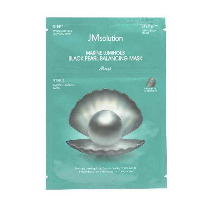 image of 韓國 JMsolution 海洋珍珠平衡角質調理黑面膜(單片)   Korea JMsolution Marine Luminous Black Pearl Balancing Mask