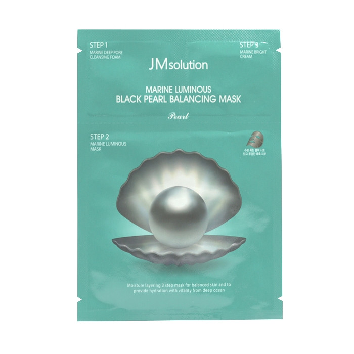 image of 韓國 JMsolution 海洋珍珠平衡角質調理黑面膜(單片)   Korea JMsolution Marine Luminous Black Pearl Balancing Mask