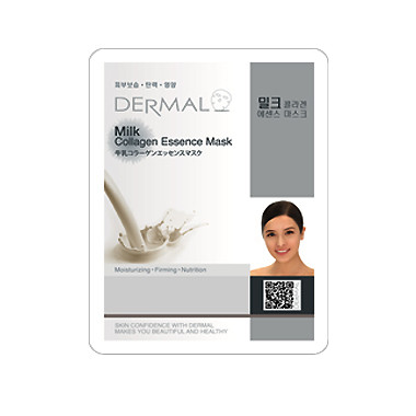 image of 韓國 DERMAL面膜 23g NO.37.牛奶(037 Milk)   Korea Dermal Collagen Essence Mask - Milk 23g
