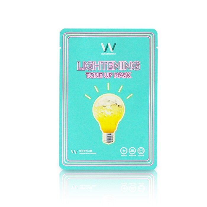 image of 韓國Wonjin Effect 激光亮白燈泡面膜 單片 30g Korea Wonjin Effect Lightening Tone Up Mask 30g