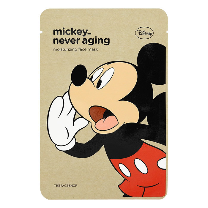 韓國 The Face Shop 迪士尼聯名保濕面膜 25g #.米奇   Korea The Face Shop Mickey_Never Aging Moisturizing Face Mask