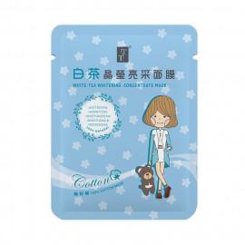 image of TT 波特嫚 小女孩無籽棉系列 白茶晶瑩亮采面膜 單片 25ml  TT White-Tea Whitening Concentrate Mask 25ml