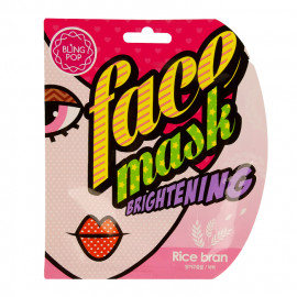 image of 韓國 BLING POP 純米面膜 25mL/單片入 #.美白  Korea BLING POP Rice Bran Brightening Mask 25mL