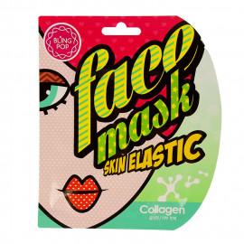 image of 韓國 BLING POP 膠原面膜 25mL/單片入 #.彈力  Korea Bling Pop Collagen Skin Gel Face Mask 25mL