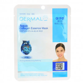 image of 韓國 DERMAL面膜 23g NO.20.膠原蛋白菁華面膜  Korea Dermal Aqua Collagen Essence Mask 23g