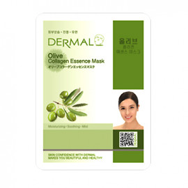 image of 韓國 DERMAL面膜 23g NO.38.橄欖(035 Olive)  Korea DERMAL COLLAGEN ESSENCE MASK - OLIVE  23g
