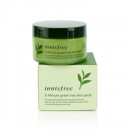 image of 韓國 innisfree 濟州綠茶3分鐘舒緩局部面膜(100張入)   Korea Innisfree 3-Minute Green Tea Skin Pack