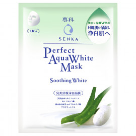 image of 專科 完美舒緩淨白面膜 25mL   SENKA Perfect Aqua White Mask Soothing Water 25mL