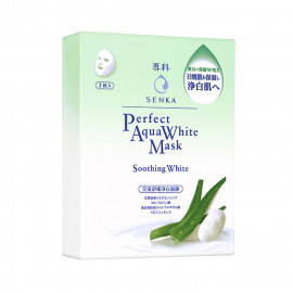 image of 專科 完美舒緩淨白面膜 25mLX7片/盒  SENKA Perfect Aqua White Mask Soothing White  25mLX7pcs/box