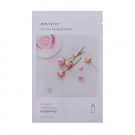 image of 韓國innisfree My real鮮潤面膜 (2018新包裝) 玫瑰  Korea INNISFREE MY REAL SQUEEZE MASK - ROSE