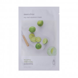 image of 韓國innisfree My real鮮潤面膜 (2018新包裝) 檸檬   Korea INNISFREE  MY REAL SQUEEZE MASK - LIME