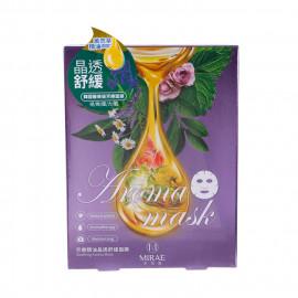 image of 未來美 芳療精油面膜4片/盒 晶透舒緩  Mirae Soothing Aroma Mask 4pcs/box
