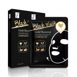 image of TT 波特嫚 金箔煥齡奢寵黑面膜 (5片入)   TT KOTEMEIN Gold Renewal Lifting Firming Facial Black Mask (5pcs)
