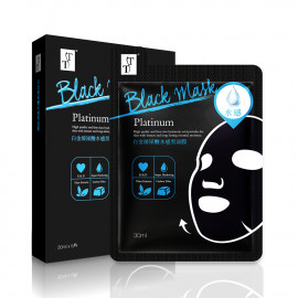 image of TT 波特嫚 白金玻尿酸水感黑面膜 (5片入)  TT KOTEMEIN Platinum Hyaluronic Acid Moisturizing Facial Black Mask (5 pcs)