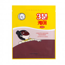 image of 韓國 ETUDE HOUSE 3分鐘修護面膜(單片) 黑豆(彈潤)23g    Korea ETUDE HOUSE 3 Minutes Care Mask (Black Bean)23g