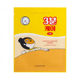 image of 韓國 ETUDE HOUSE 3分鐘修護面膜(單片) 薑黃(保濕)23g    Korea ETUDE HOUSE 3 Minutes Care Mask (Tumeric) 23g