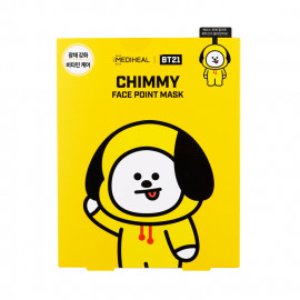 image of 韓國 MEDIHEAL BT21聯名款 保濕面膜(附贈書籤明信片) 4片/盒 CHIMMY   Korea MEDIHEAL BT21 CHIMMY Mediheal Face Point Mask Sheet (4pcs/box) Bookmark Postcard