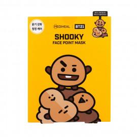 image of 韓國 MEDIHEAL BT21聯名款 保濕面膜(附贈書籤明信片) 4片/盒 SHOOKY    Korea MEDIHEAL BT21 SHOOKY Mediheal Face Point Mask Sheet (4pcs/box) Bookmark Postcard