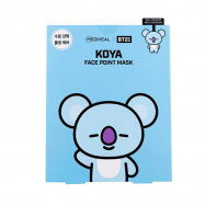 image of 韓國 MEDIHEAL BT21聯名款 保濕面膜(附贈書籤明信片) 4片/盒 KOYA   Korea MEDIHEAL BT21 KOYA Mediheal Face Point Mask Sheet (4pcs/box) Bookmark Postcard