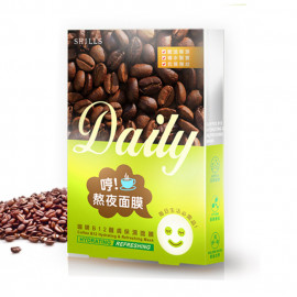 image of SHILLS水鑰之肌生活面膜系列 熬夜咖啡B12    SHILLS COffee B12 Hydrating&Refreshing Mask
