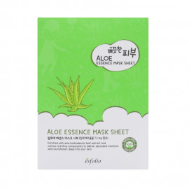 image of 韓國 esfolio 高效精華面膜(10片/盒) 蘆薈  Korea Esfolio Aloe Essence Mask Sheet (10pcs/box)