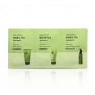 image of 韓國 innisfree 濟州綠茶清潔3件組  Korea Innisfree Green Tea Foam Cleanser , Innisfree Greem Tea Good morning cleanser & Innisfree green tea cleansing gel-to-foam