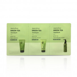 image of 韓國 innisfree 濟州綠茶清潔3件組  Korea Innisfree Green Tea Foam Cleanser , Innisfree Greem Tea Good morning cleanser & Innisfree green tea cleansing gel-to-foam