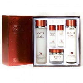 image of 韓國 JIGOTT 蝸牛彈力禮盒五件組   Korea JIGOTT SNAIL Essence Moisture Skin Care 3set