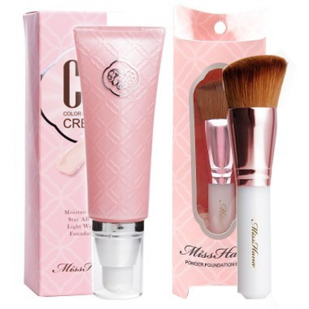 Miss Hana 花娜小姐CC霜/粉底兩用刷   Miss Hana Color Control Cream + Foundation Brush Set