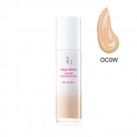 image of 日本 SHISEIDO 資生堂 Za 美白聚光粉底精華 25mL #.OC0W    Japan SHISEIDO Za True White Liquid Foundation SPF 25.PA++ 25mL #.OC0W