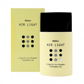 image of 泰國 Mistine 空氣粉底液 20mL #.01 象牙白   Thailand Mistine Air Light Liquid to Powder Foundation (F1 Light)