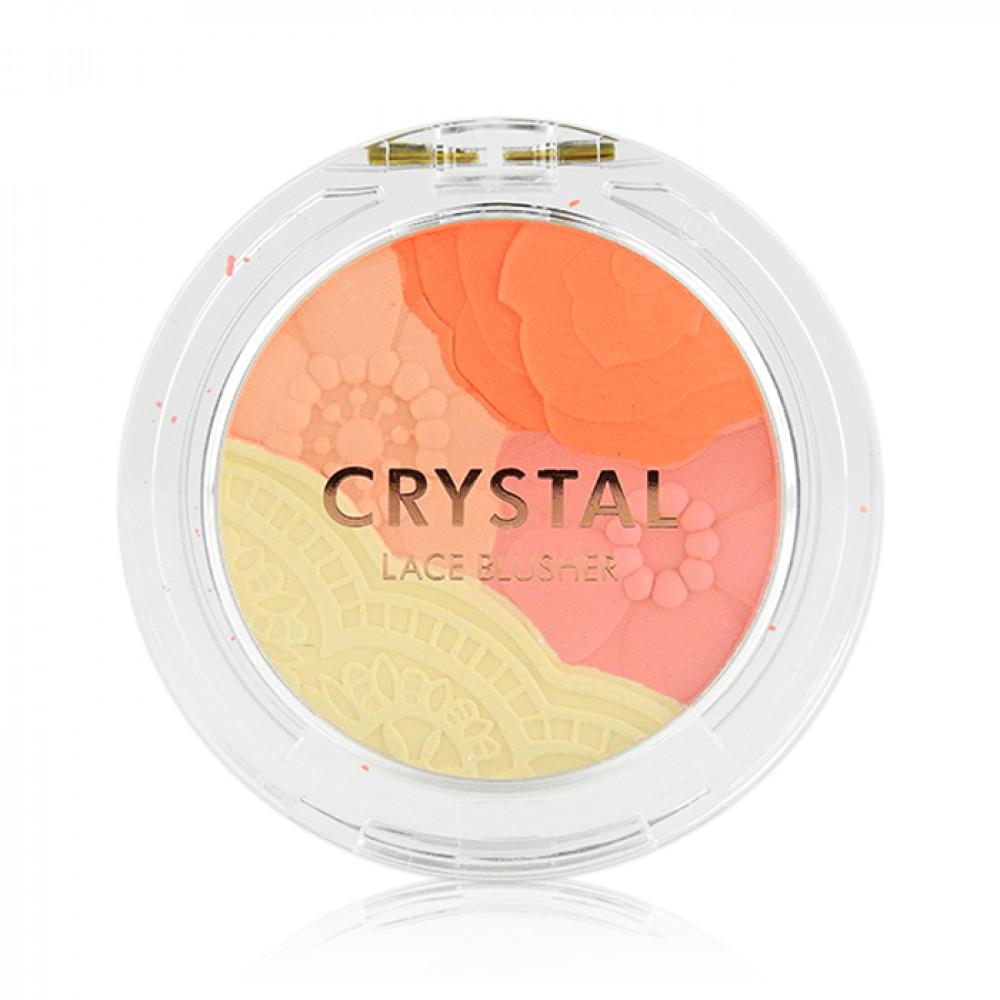 韓國 TONYMOLY 水晶花邊腮紅02 5g  Korea TONYMOLY - Crystal Lace Blusher #02 Daisy Coral 5g